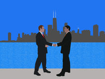 Chicago business meeting Royalty Free Stock Image