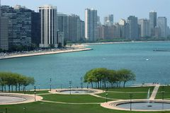 Chicago By The Lake Royalty Free Stock Photography