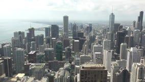 Chicago céntrica desde arriba almacen de metraje de vídeo