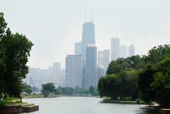 Chicago céntrica John Hancock Building y otros edificios Imagenes de archivo