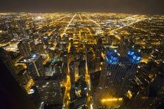 Chicago céntrica a partir del 95.a piso fotografía de archivo