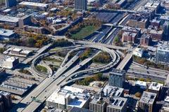 Chicago céntrica (visión aérea) imágenes de archivo libres de regalías