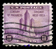 Chicago Century of Progress US Postage Stamp Stock Photos