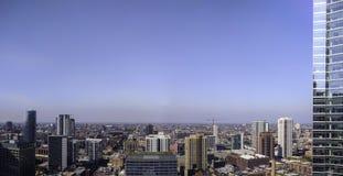 Chicago cerca del lado oeste, incluyendo Fulton Market Panorama aéreo, paisaje urbano EE.UU. imagen de archivo