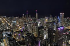 Chicago Skyline from sears stock image