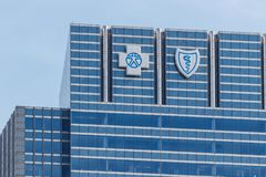 Chicago - Circa May 2018: Blue Cross Blue Shield headquarters signage and logo I