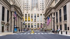 Chicago city buildings and city life - Chicago, Illinois Royalty Free Stock Photo