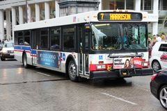 Chicago city bus Stock Photo
