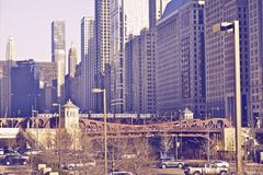 Chicago City Center Royalty Free Stock Images
