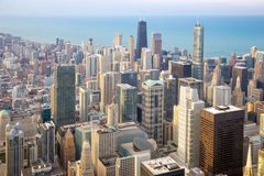 Chicago City downtown. Aerial view of Chicago City downtown Royalty Free Stock Images