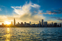 Chicago city downtown urban skyline Stock Photography