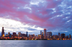 Chicago city downtown urban skyline Stock Photo