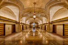Chicago City Hall. Lobby of City Hall at 121 N. La Salle Street in Chicago, Illinois royalty free stock photo