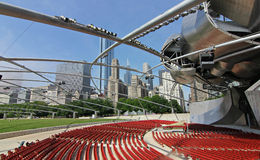 Chicago City in Illinois. Chicago, on Lake Michigan in Illinois, is among the largest cities in the U.S. Famed for its bold architecture, it has a skyline royalty free stock photos