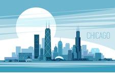 Chicago. Of Chicago City. Illustration Royalty Free Stock Image