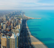 Chicago City and Michigan Lake, Chicago, illinois, USA Royalty Free Stock Images