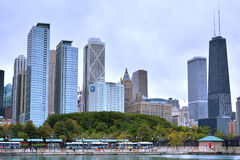 Chicago city by Michigan Lake, near Navy Pier Royalty Free Stock Photo