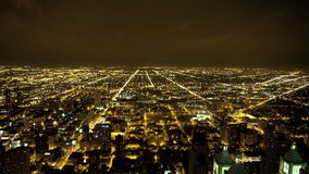 Chicago city night view stock video footage
