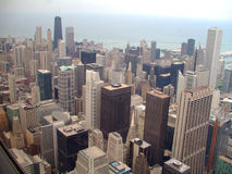 Chicago city skyline. Downtown Chicago city skyline as seen from the 103rd floor of the Sears tower royalty free stock photo
