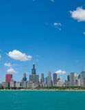 Chicago city skyline Stock Photo