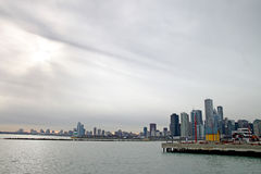 Chicago city skyline royalty free stock photo