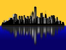 Chicago city skyline Stock Photography