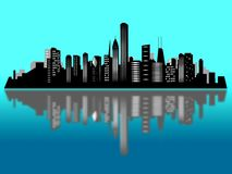 Chicago city skyline Royalty Free Stock Images
