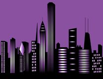 Chicago city skyline Stock Photos