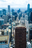Chicago city skyline. Aerial view of Chicago city skyline viewed from the John Hancock Center building, Illinois, U.S.A Stock Images