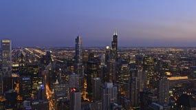 Chicago. City skyline at night stock photo