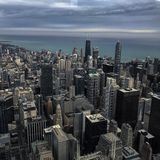Chicago city skyline Stock Photos