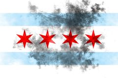Chicago city smoke flag, Illinois State, United States Of Americ. A Stock Photography