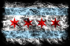 Chicago city smoke flag, Illinois State, United States Of Americ. A Royalty Free Stock Image