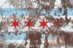 Chicago city smoke flag, Illinois State, United States Of Americ. A Stock Photo