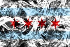Chicago city smoke flag, Illinois State, United States Of Americ. A Stock Image