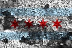 Chicago city smoke flag, Illinois State, United States Of Americ. A Royalty Free Stock Image