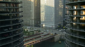 Chicago city sunrise time lapse stock video footage
