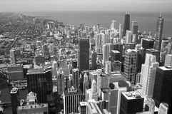 Chicago city from top view Royalty Free Stock Image