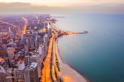 Chicago city from top view Royalty Free Stock Photo