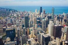 Chicago city from top view Stock Photos