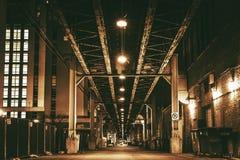 Chicago City Train Bridge Stock Photography