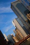 Chicago city view. As seen from The Chicago River Royalty Free Stock Photos
