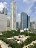 Rooftop view of Millennium Park royalty free stock image