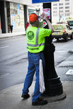 Chicago City worker stock photos