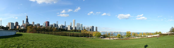 chicago cityscape Royaltyfria Bilder