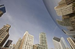 Chicago Cityscape The Bean Royalty Free Stock Photos