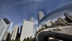 Chicago Cityscape The Bean Royalty Free Stock Photography