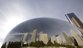 Chicago Cityscape The Bean Stock Image