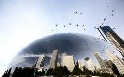Chicago Cityscape The Bean Stock Photos