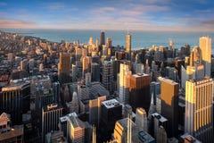 Chicago cityscape i Amerika royaltyfri foto